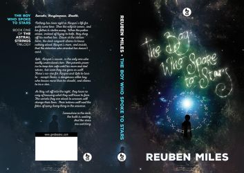 Book cover design for The Boy Who Spoke to Stars by gaborcsigas