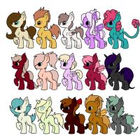 Pony Adopts (11/15 open) by Redpandaseas