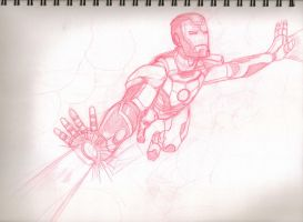 Ironman sketch by EmanuelMacias