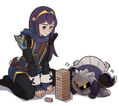 Lucina and Meta Knight by SplashBrush