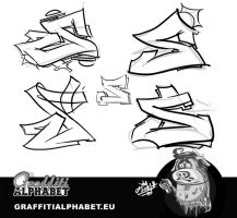 Graffiti letter s by KreDy