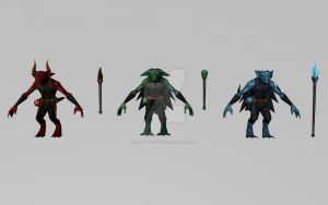 Demons (MarvelFF 3D Models) by Pitermaksimoff