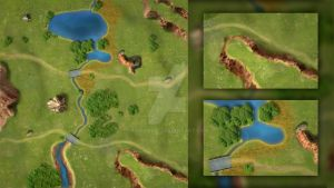 Digitally Painted Map 1 by AdrianDIS