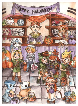 Halloween in Hyrule by IAmNotAPorkChop