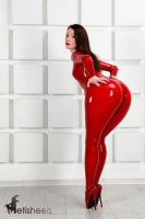 Red Rubber Rump by Simply-Morphed