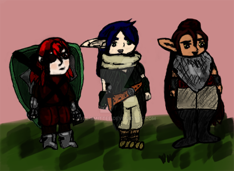 The Unfriendly Adventurers Chibified by Le-Smittee