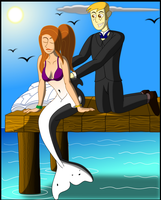 Mermaid Kim and Ron at the pier by PhysicRodrigo