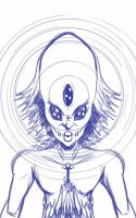 Daily Sketch: Psychic by Hunchy