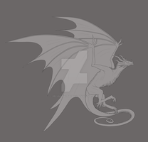 Exotic Wyvern -Lines- by DelusionalPuffball