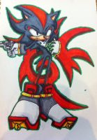 Shadow the hedgehog w/copics markers by Animal-Lover52
