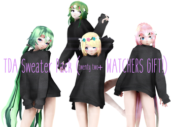 TDA Sweater Pack (22+ WATCHERS GIFT DL!) by FluffyGuffy