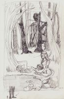 In the Woods - sketch by LostInTheW0ods