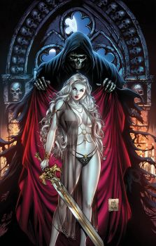 Lady death Risque by Kromespawn