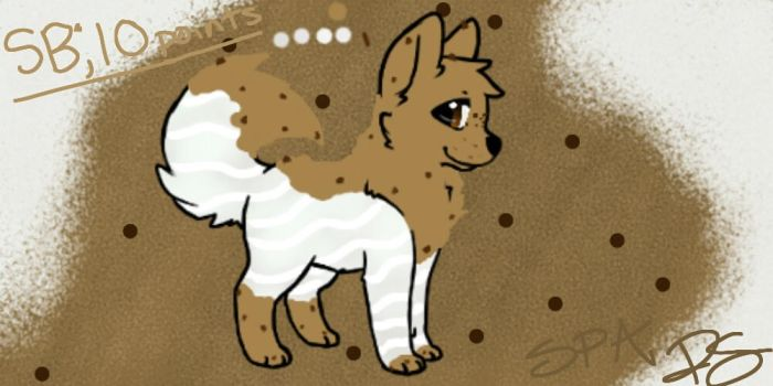Cookie Dog Auction Awating Payment! by Paradise--Adopts