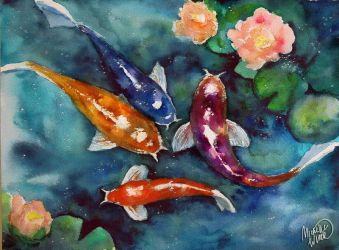 Magic fish by Michelle-Winer