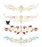 Gold elements diadems with jewelry by Lyotta