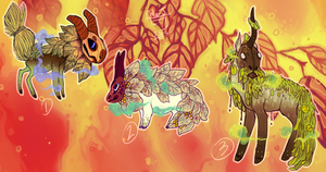 (CLOSED) Early Fall Maskbeasts by The-Monster-Shop