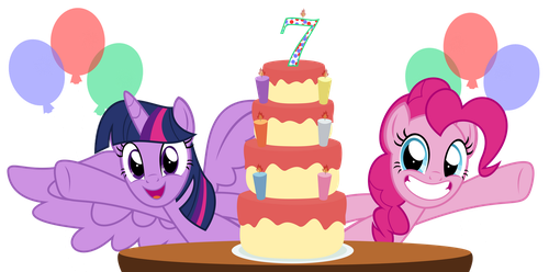 7th Anniversary Of MLP by kuren247