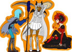 GaiaOnline Commission Batch 5/5 - Warriors by SkullBooty
