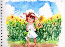 Giftart  - Cheerful Sunflower by Adept-eX