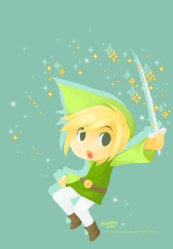 Little Hero Toon Link by tomokii