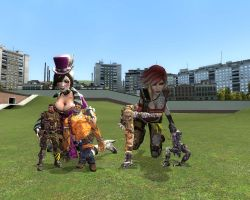 Giantess Moxxi and Lilith by ThatGUYGTS