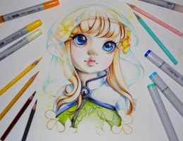Emilia the Elf Child by Lighane