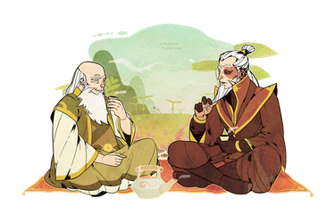 Visiting Uncle Iroh. by freestarisis