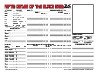 Rifts Order of the Black Sash Character Sheet by MADMANMIKE