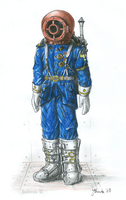 Russian space sailor by JanBoruta