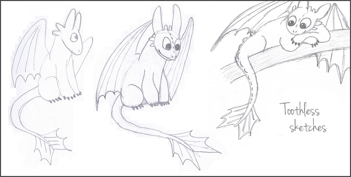 Toothless Sketches 3 by Mirka-Dragon