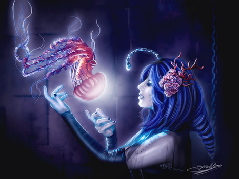 Jellyfish Queen by LadyPingu