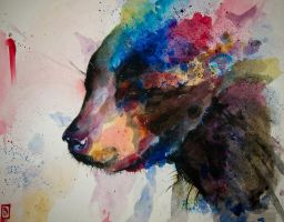 Bear watercolor by GreyM83