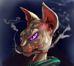 Smoking Cat by DeadBird-Hushabye