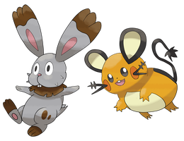 Dedenne And Bunnelby