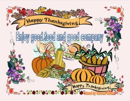New Thanksgiving Ecard2 by CopperSphinx