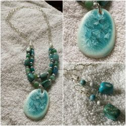 Winter's Frost Necklace Set by DOC-Ash1391