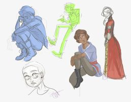 Sketches or: Some People Looking off to Their Left by ComickerGirl