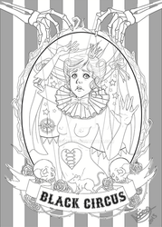 Black Circus Lineart by Noemnerys