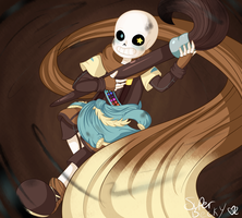 RE-DRAW: Ink!Sans by SuperBecky