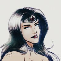 Wonder Woman New 52   Complete Colors Sketch by mariananaca