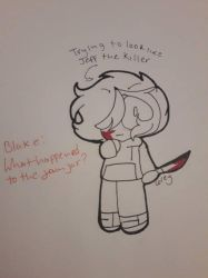 Corey trying to be Jeff the Killer by Coreydaweirdoboi