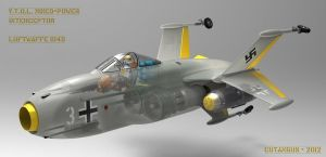 Luftwaffe 1949 point defense fighter by CUTANGUS