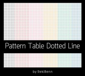 Pattern Table Dotted Line by TheSeekerReki