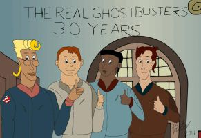 The Real Ghostbusters 30 years by EgonEagle