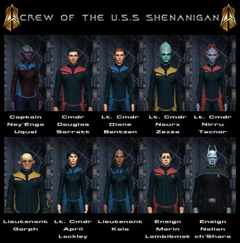Crew Of The U.S.S. Shenanigan by celticarchie
