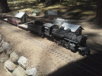Pipe train in siding at Rockwood by SouthwestChief