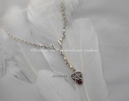 'Ancient element', sterling silver necklace by seralune