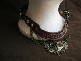 Leather Gorget C by passbyguy