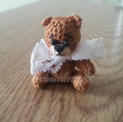 Mini Crocheted Teddy Bear by technicolorcrafts